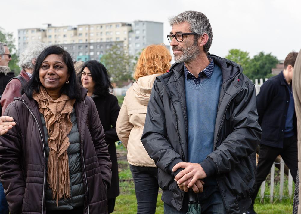 Chief gardener Franck Ponthier of the Sensitive Zone, Urban Farm of Saint-Denis.