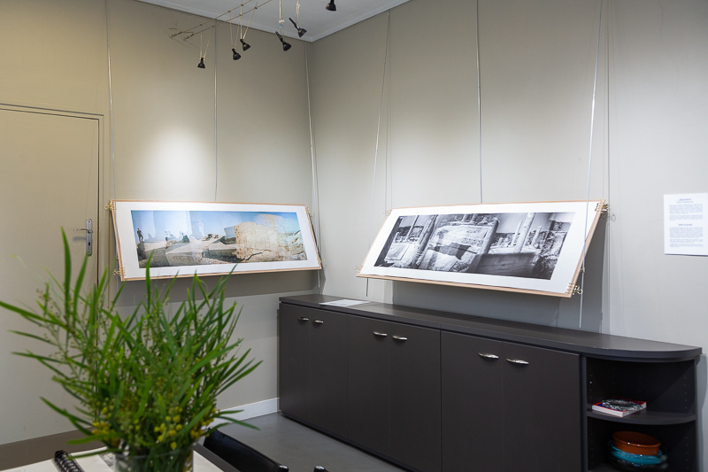 Exhibition views from Lieux-dits by Elise Prudhomme at Studio Ga